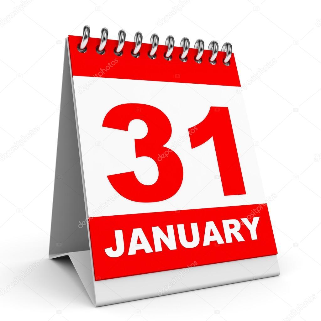 Calendario - in evidenza il 31 gennaio