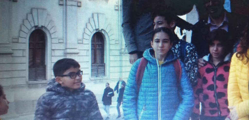 Alcuni alunni della scuola Bevacqua di Reggio Calabria