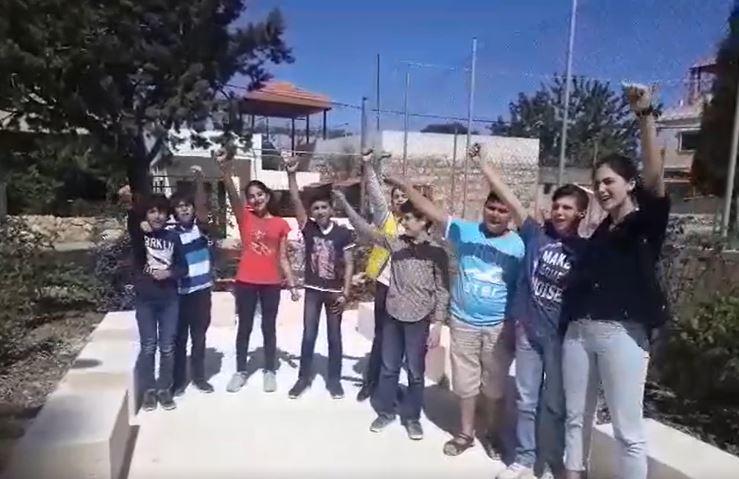 i ragazzi di Sarba-Nabatieh, Libano, vincitori del 1° premio