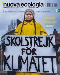 Nuova ecologia, la rivista di Legambiente, copertina con Greta Thunberg